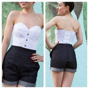 Corset Story Instant Shape White Satin Overbust